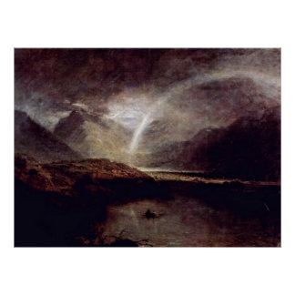 Buttermere Lake by Joseph Mallord William Turner Poster