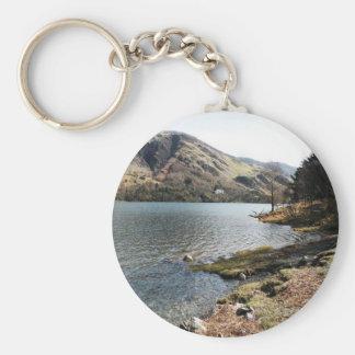 Buttermere Lake, UK Basic Round Button Key Ring