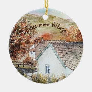 Buttermere Village, Lake District, England Ceramic Ornament