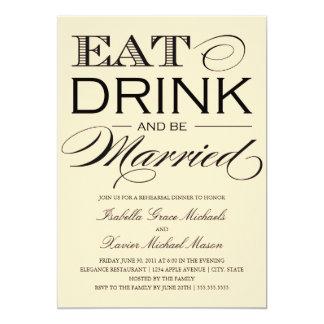 Buttermilk Eat, Drink   Rehearsal Dinner Card