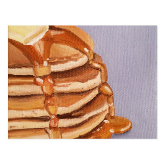Buttermilk Pancakes Shortstack Breakfast Painting Postcard