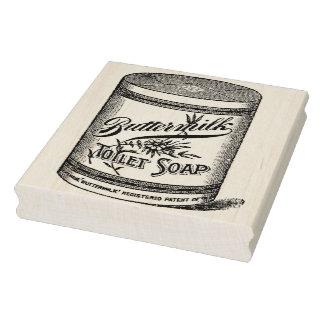 Buttermilk Toilet Soap Vintage Rubber Art Stamp