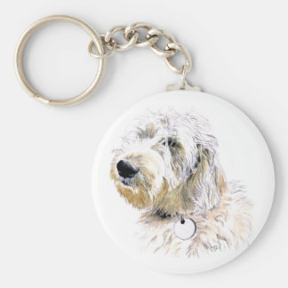 Butters the Labradoodle Keychain
