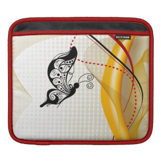 Butterscotch Butterfly Abstract  Rickshaw Sleeve Sleeves For iPads