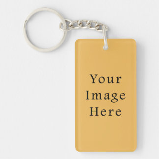 Butterscotch Caramel Yellow Color Trend Template Single-Sided Rectangular Acrylic Key Ring