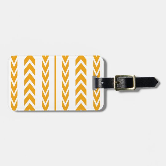 Butterscotch Tire Tread Luggage Tag