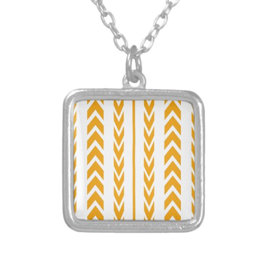 Butterscotch Tire Tread Silver Plated Necklace