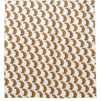 Buttery Croissant Crescent French Breakfast Pastry Shower Curtain
