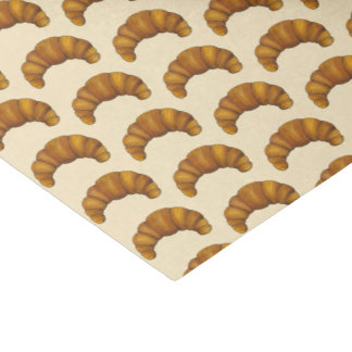 Buttery French Croissant Pastry Foodie Breakfast Tissue Paper