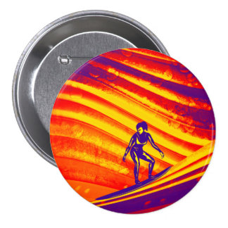 Button, Abstract Sunset Design 7.5 Cm Round Badge