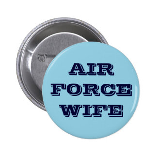 Button Air Force Wife