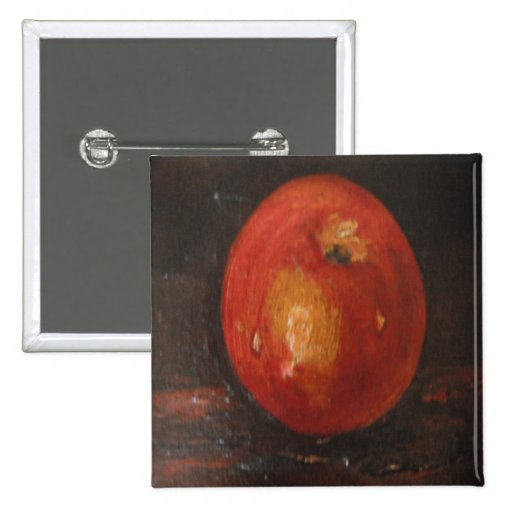 Button Ann Hayes Painting Apple