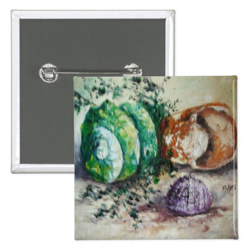 Button Ann Hayes Painting Sea Shells