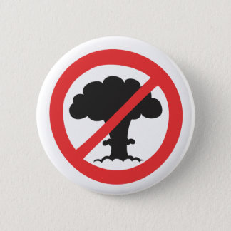 Button: anti nuclear weapons symbol 6 cm round badge