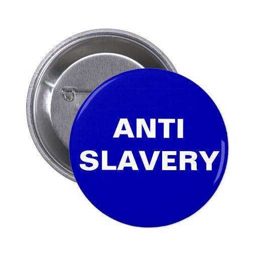 Button Anti Slavery Blue