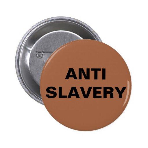 Button Anti Slavery Brown