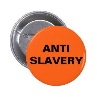 Button Anti Slavery Orange