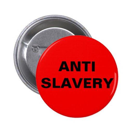Button Anti Slavery Red