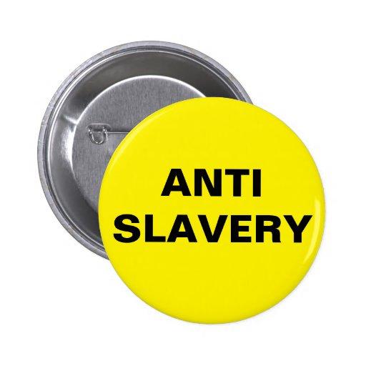 Button Anti Slavery Yellow