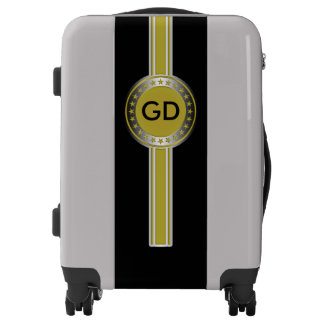 Button / Banner - Stars gold silver + monogram Luggage
