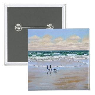 Button ~ Beach Dog Walk