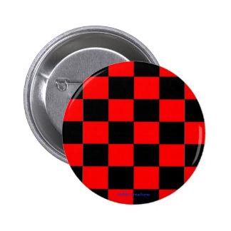 button - black & red checkers