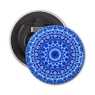 Button Bottle Opener Mandala Mehndi Style G403