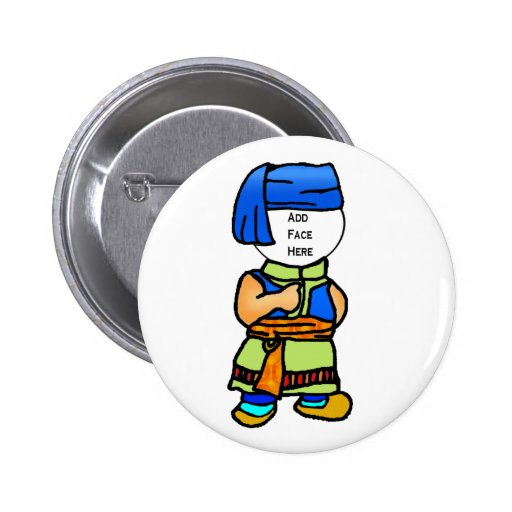 Button: Boy in Traditional Balinese Costume
