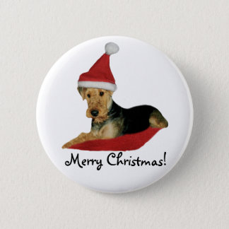 "Button Christmas ""Airedale Terrier """
