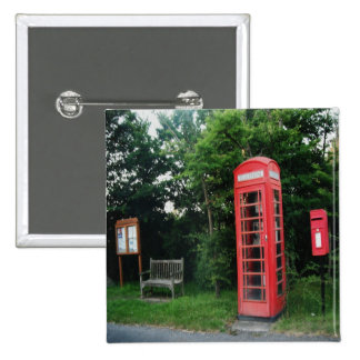Button Countryside Red Phone and Mail Box