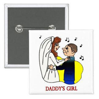 Button: Daddy's Girl 15 Cm Square Badge