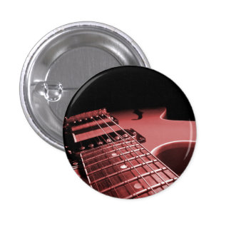 Button Electric Guitar Close Up - Red