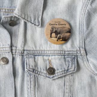Button for Elephant Lovers