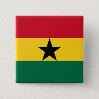 Button Ghanese flag.