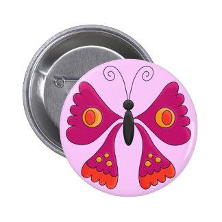 Button Girls Kid s Butterfly Dark Pink Buttons