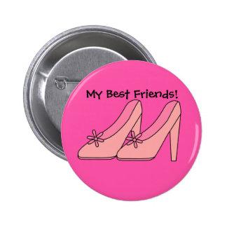 Button Girls My Best Friends Buttons