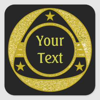 BUTTON GOLD STARS + your text Sticker