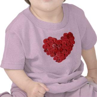 Button Heart Infant T-Shirt Cute As A Button