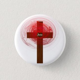 Button- Jesus cross 3 Cm Round Badge