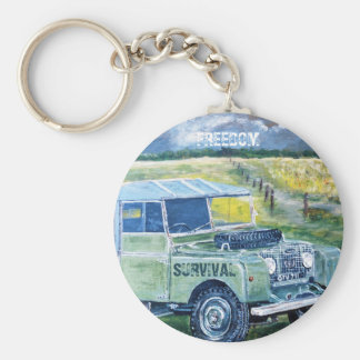 Button Key Ring. Title: FREEDOM Key Ring