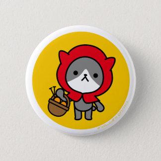 Button - Kitty - OrangeBack