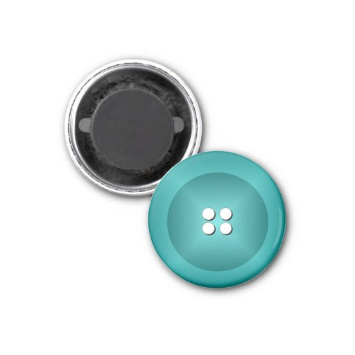 Button Magnet - Turquoise