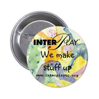 button, make stuff up 6 cm round badge