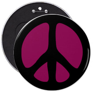 Button: Peace Sign Button