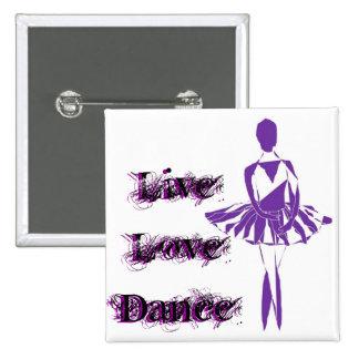 button pin ballerina ballet ponte purple