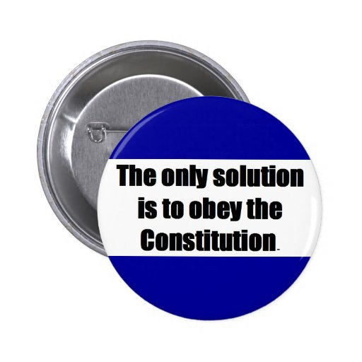 Button Pin w/ THE ONLY SOLUTION IS TO OBEY