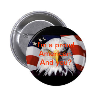 button proud american independence day USA
