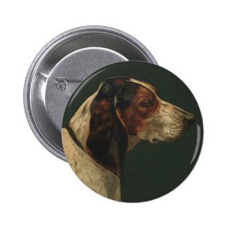 button Reproduction Vintage Portrait of a dog