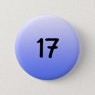 button round blue number seventeen