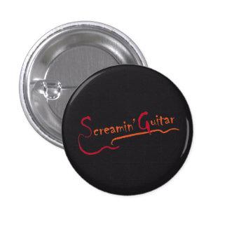 button Screaming Guitar Grafisch Design
